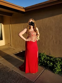 Size 14 formal red gown Phoenix, 85027