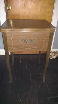 Old wooden sewing desk
