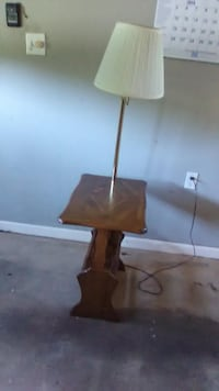 Table with 3 way built in lamp and storage MANASSAS