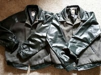 His & Hers leather jackets