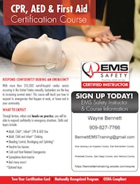 CPR, AED & FIRST AID TRAINING-SOUTHERN CALIFORNIA