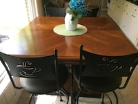"Largo table 42"" square high top with 4 24"" cafe counter stools.  Hendersonville, 37075"