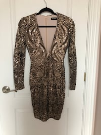 Nookie Shanina Sequin Sparkly Mini Dress/Robe Brossard