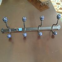 Metal and ceramic hanging coat rack  Lubbock