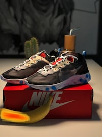 Nike React Element 87 Dark Grey Photo Blue Hosle, 1362
