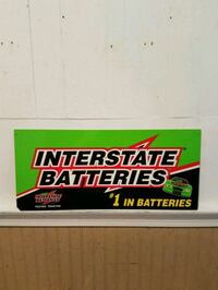 double sided Interstate Batteries Sign Nottingham, 21236