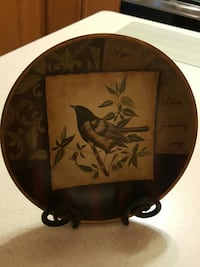 brown and white bird print decorative plate with s Ottawa, K1G 4R3