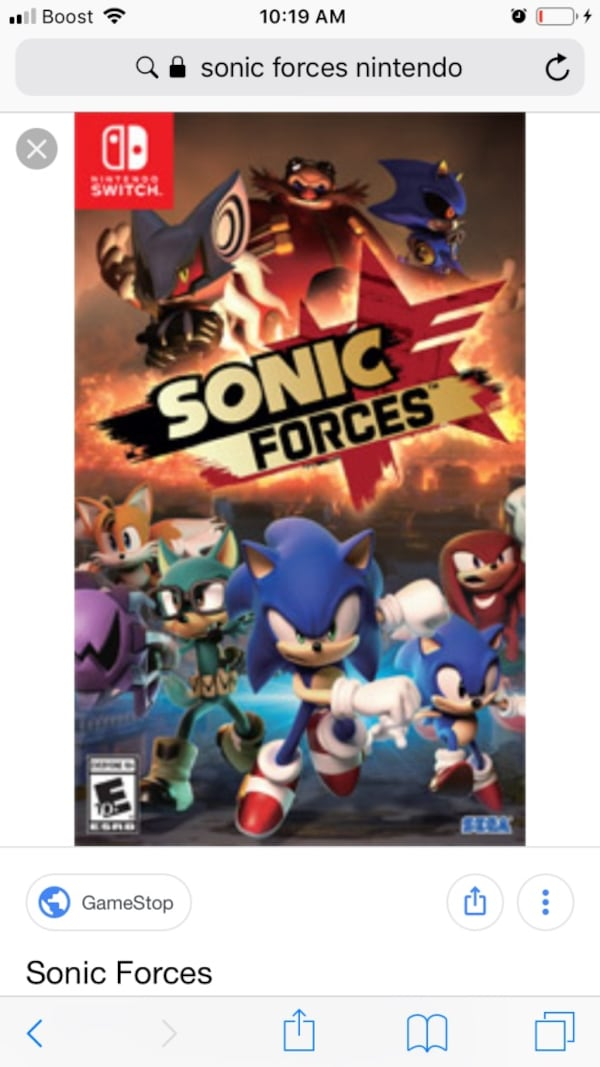 Sold Nintendo Switch Sonic Forces Popular Case In Frisco Letgo