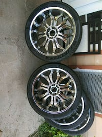 24 in tires with rims Universal Rims Houston, 77089