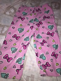 pink and green Hello Kitty print pants