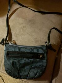 black and gray Coach monogram crossbody bag Brantford, N3S 2C3