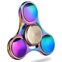 New Fidget Spinner Toy Stainless Steel Rainbow Perfect Surface Finish with leather box  RAINBOW SPINNER is Great For Kids and Adults. Helps Improving Focus, Reliving Stress, Anxiety, ADHD, ADD and Much More...  PREMIUM QUALITY Ultra Durable, Stainless Ste Montréal, H4M 2M1