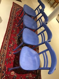 two blue-and-black leather padded armchairs Keswick, L4P 1E9