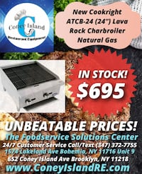 """New Cookright ATCB-24 (24"""") Lava Rock Charbroiler"""