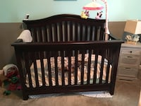 Solid cherry wood crib and dresser. Good used condition Aldie, 20105