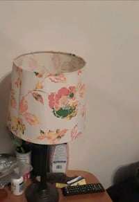white and pink floral table lamp (2) Catonsville, 21228