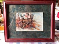 Brown picture frame of a deer stand in the autumn leaves Vienna, 22181