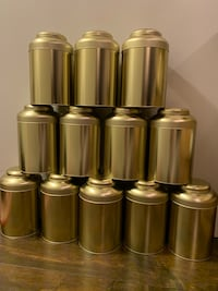 Golden Tea Tin containers