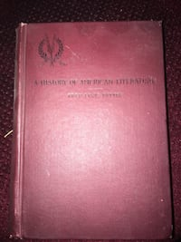 A history of American literature 1896 1st Edition