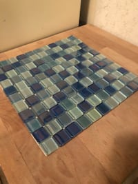 11 sheets of blue blend mosaic tile $8 each
