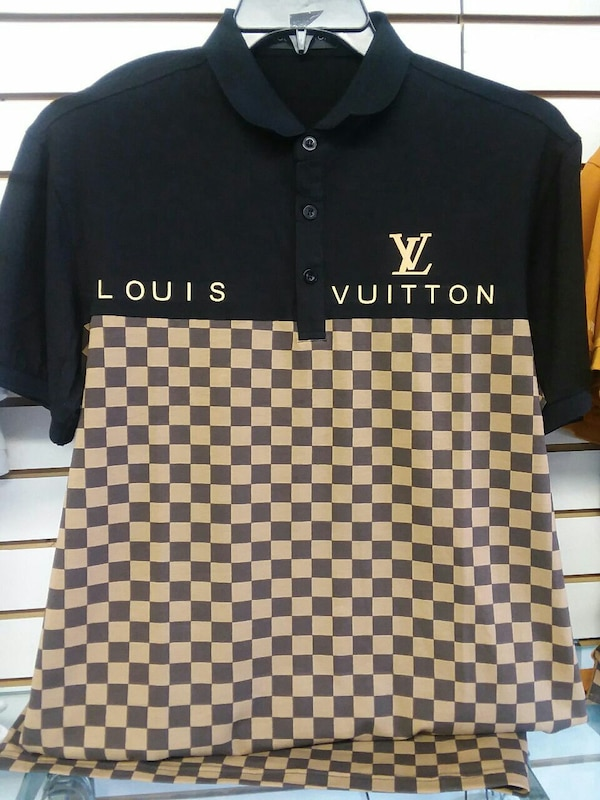 166a2f85 Used men's black and brown Louis Vuitton polo shirt for sale in ...