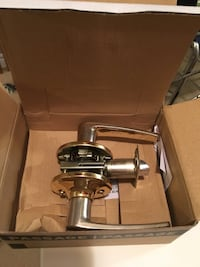 Stainless steel door lever in box Oakville