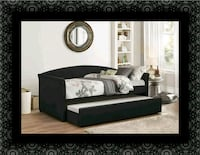 Daybed black with mattress 68 km