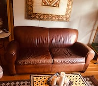 Leather Sofa and Armchair (Pottery Barn) Los Angeles, 90057