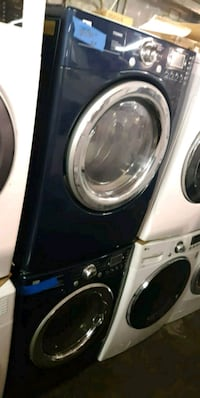LG blue front load washer and dryer set  46 mi