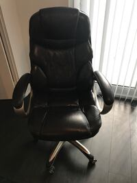 Brown leather office rolling armchair Toronto, M5J