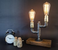 Edison Lamp | Rustic Design | Home Decor | Steampunk Lamp | Industrial Lighting | Housewarming Gift | Desk Lamp | Bedside Lamp | Edison Bulb SOUTHMILWAUKEE