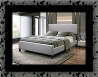 Grey platform bed with mattress all size Ashburn, 20147