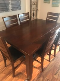 Dining table with a six chair