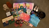 Princess sleeping bag, book, toys, jacket, shoes,  Alexandria