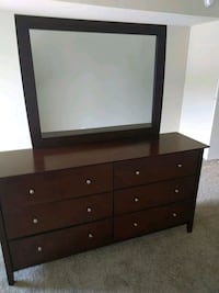brown wooden dresser with mirror Reston