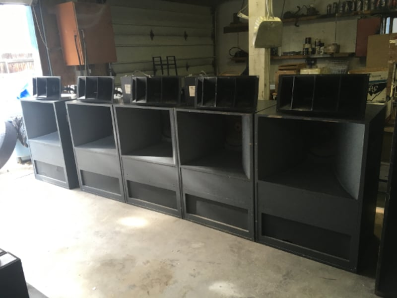 Sold Vintage Movie Theater Speakers Altec Lansing Rare Voice Of The Theater Cabinets In Garden City Letgo