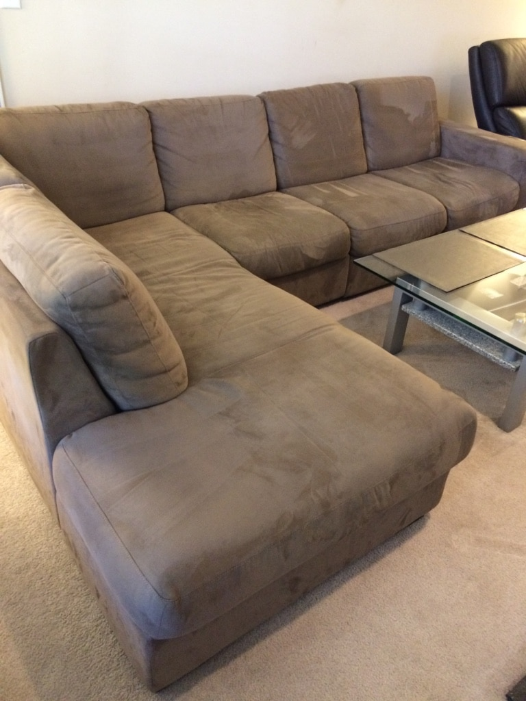 Genial Natuzzi Italsofa Faux Suede Sectional (3 Piece Adjustable)