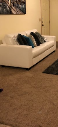 White leather couch  North Little Rock, 72113