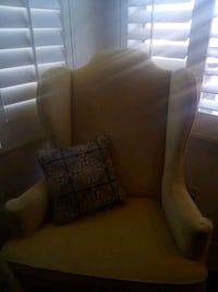Antique chair yellow