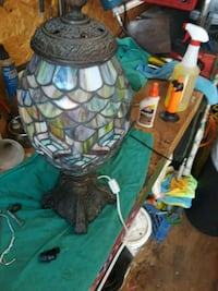 gray and green stained glass table lamp Boca Raton, 33428