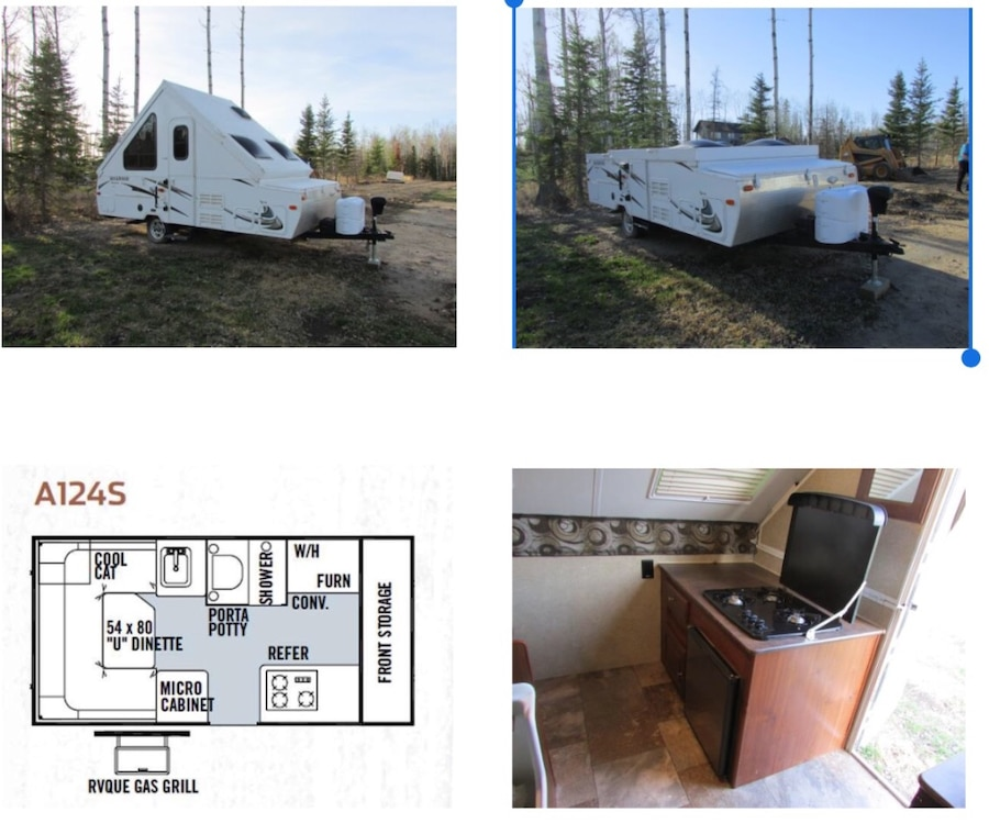 Pop Up Camper Gasgrill : Used rockwood premiere by forest river hardwall pop up