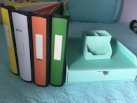 Binders and Martha Stewart organizer  Toronto, M6M 1L2