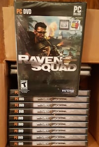 Twelve (12) Games - Raven Squad: Hidden Danger PC DVD Computer Game  FREE SHIPPING !!  Raven Squad puts players in control of two groups of mercenary squads who crash land behind enemy lines in the Amazonian jungles.  It requires tactical planning and a l Newmarket