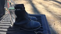 Pair of black leather side-zip boots Brookline, 02446