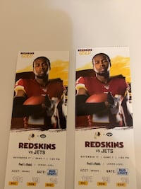 Skins vs Jets Tickets Fairfax Station, 22039