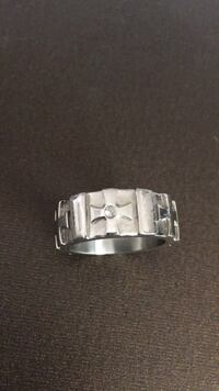 silver-colored and diamond ring High Point, 27260