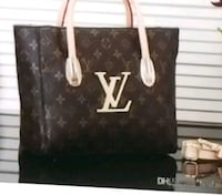 brown Louis Vuitton leather tote bag Clifton, 07011
