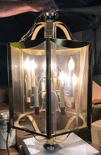 Large brass and glass chandelier North Las Vegas, 89031
