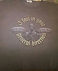 gray and brown crew-neck t-shirt with J Fart In Yo Peoria, 61603