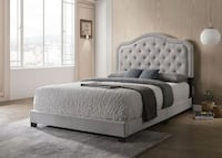 BRAND NEW FABRIC PLATFORM BED - AVAILABLE IN QUEEN SIZE ONLY